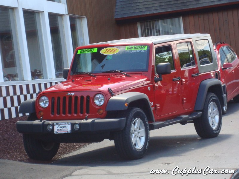 2008 jeep wrangler unlimited 4x4 6 speed for sale in laconia nh cupples cars used cars nh. Black Bedroom Furniture Sets. Home Design Ideas