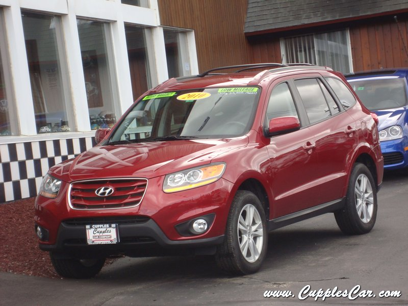 2010 hyundai santa fe se v6 awd for sale in laconia nh cupples cars used cars nh. Black Bedroom Furniture Sets. Home Design Ideas