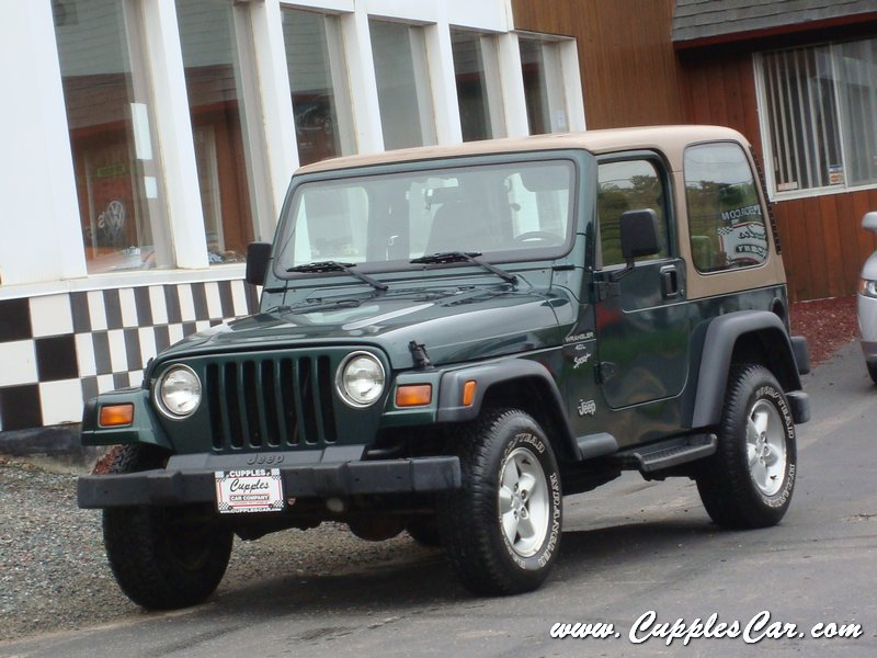 1999 jeep wrangler 4x4 4 0l sport for sale in laconia nh cupples used cars nh. Black Bedroom Furniture Sets. Home Design Ideas